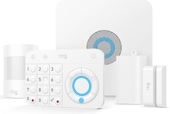 The Ring Alarm system offers sophisticated home security protection.