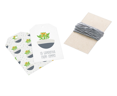 Custom Kalanchoe Pattern Gift Tags from Zazzle