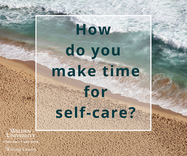 How do you make time for self-care?