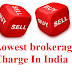 How to Get the Lowest brokerage Charge in India