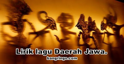 Lirik lagu Daerah Jawa.