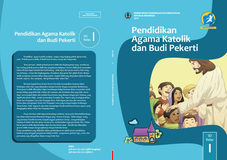 Download Gratis Buku Guru dan Buku Siswa Pendidikan Agama Katolik dan Budi Pekerti SD Kelas 1 Kurikulum 2013 Format PDF