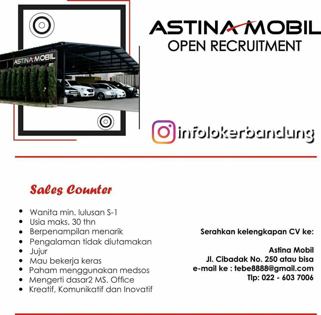 Lowongan Kerja Astina Mobil Bandung September 2018