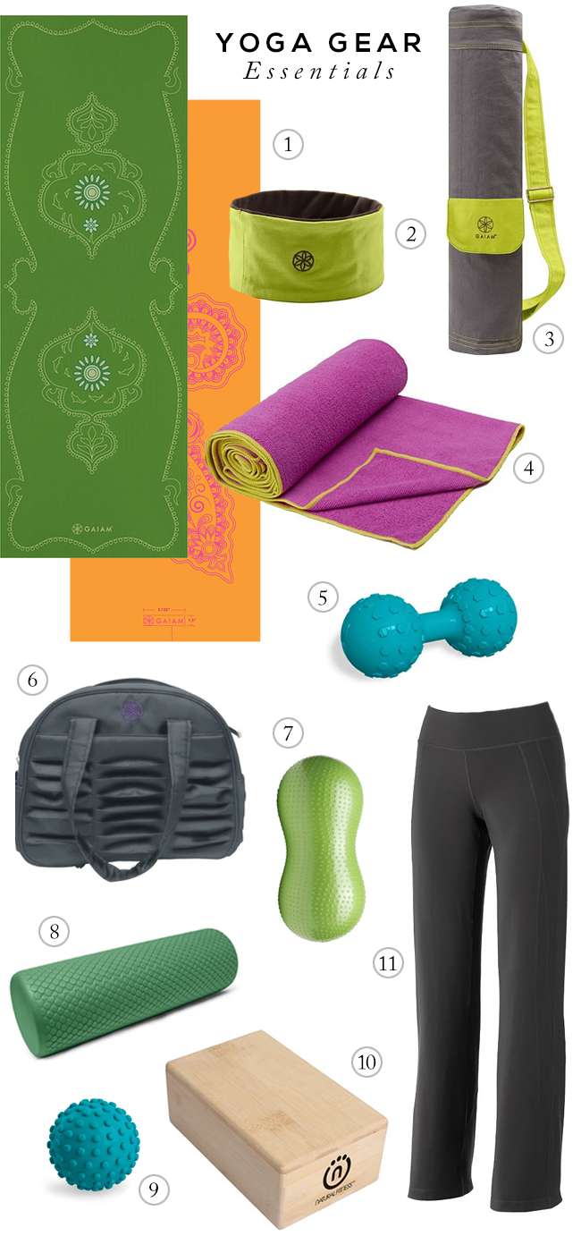 Yoga Gear Essentials, via Bubby and Bean
