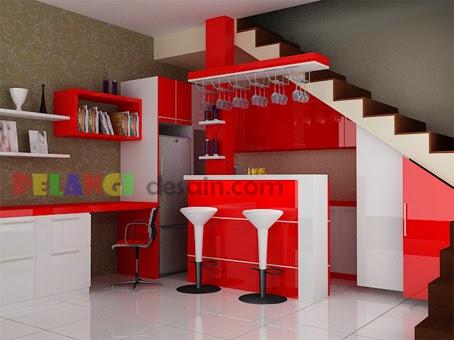 Kitchenset Pelangi Desain Interior Kitchen Set Mewah Warna Merah Glossy