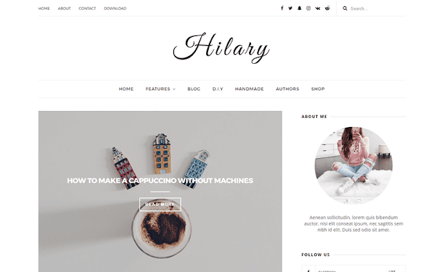 Hilary Blog Template