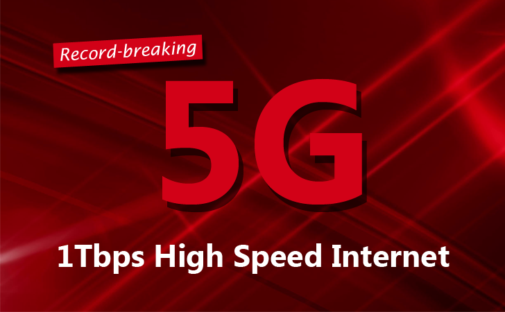 Record-breaking 1Tbps Speed achieved Over 5G Mobile Connection