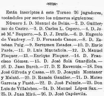 Recortes sobre Torneo de Ajedrez para el Campeonato de Cataluña disputado en 1905 en Barcelona (7)