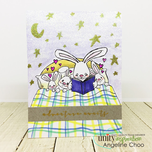 ScrappyScrappy: Cute Cuddlebugs with Unity Stamp - Patience and Love #scrappyscrappy #unitystampco #cardmaking #card #craft #crafting #scrapbook #papercraft #stamp #stamping #youtube #quicktipvideo #video #nuvoglimmerpaste #glimmerpaste #tonicstudios #copicmarkers #bedtimestory #bunny