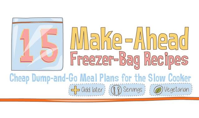 15 Make-Ahead Freezer Bag Meal Recipes
