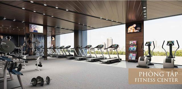 Khu tập Gym với các trang thiết bị hiện đại
