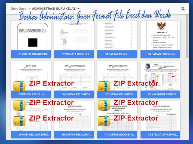 Berkas Administarsi Guru Format File Excel dan Words
