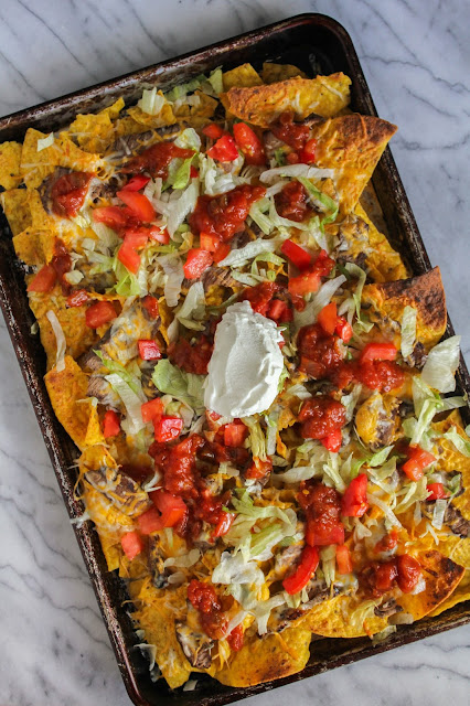 Spicy Grilled Steak Nachos #WeekdaySupper