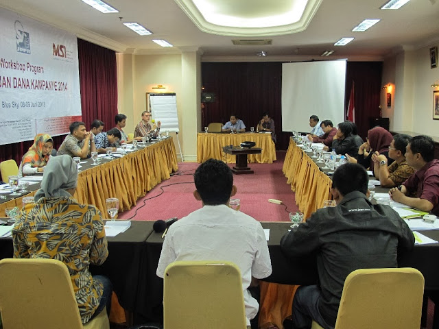 Workshop Program Pemantauan Dana Kampanye 2014