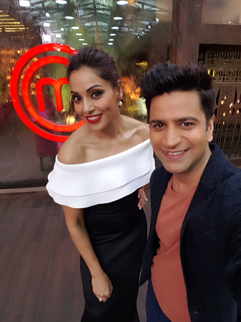 Bipasha Basu with chef Kunal Kapur-