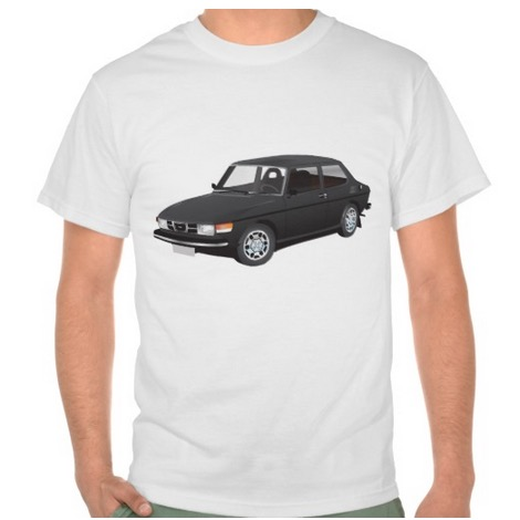 saab, 99, t-shirt, automobile