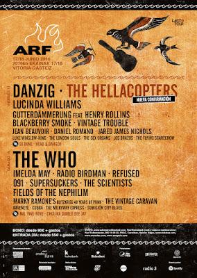 Azkena Rock, Festival, 2016, guía práctica, cartel