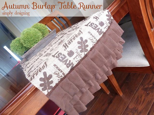 Thanksgiving Burlap Table Runner | perfect fall or Thanksgiving table decor for a tablescape | #falldecor #thanksgiving #turkeytablescapes #burlap