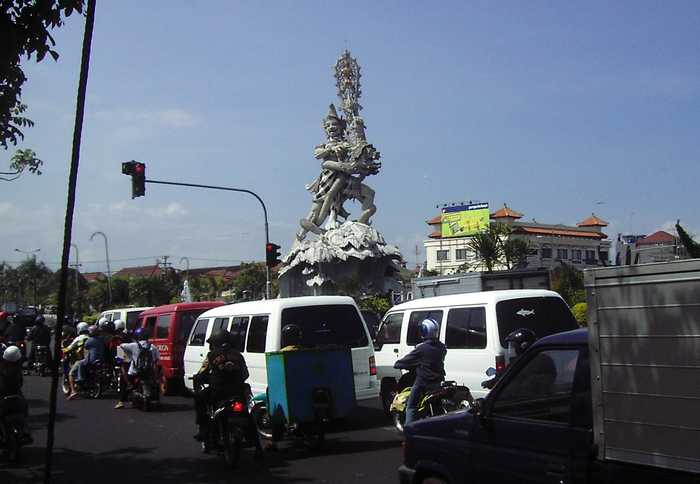 Dewa Ruci Statue in Bali, very pretentious
