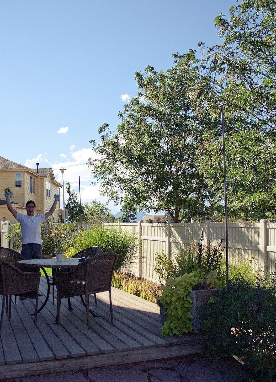 Bright July: {DIY}: Outdoor String Lights on Backyard String Lights Diy  id=33772