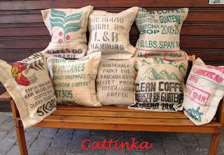 cattinka kaffeesack kissen. Black Bedroom Furniture Sets. Home Design Ideas