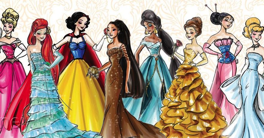 Dibujos Ideia Criativa: Princesas Disney Desenho Colorido