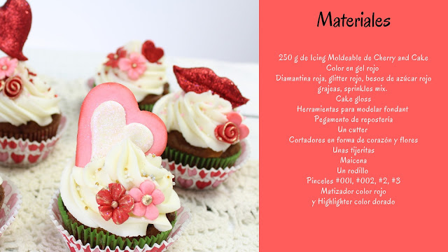 dia del amor cupcakes