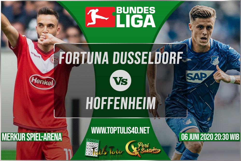 Prediksi Fortuna Dusseldorf vs Hoffenheim 06 Juni 2020