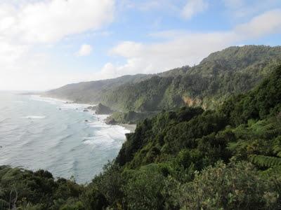Vistas desde el Parque Nacional Paparoa hasta Westport