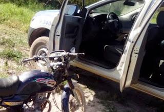 Polícia recupera moto roubada