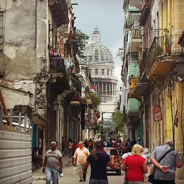 Street view of El Capitolio - Havana, Cuba