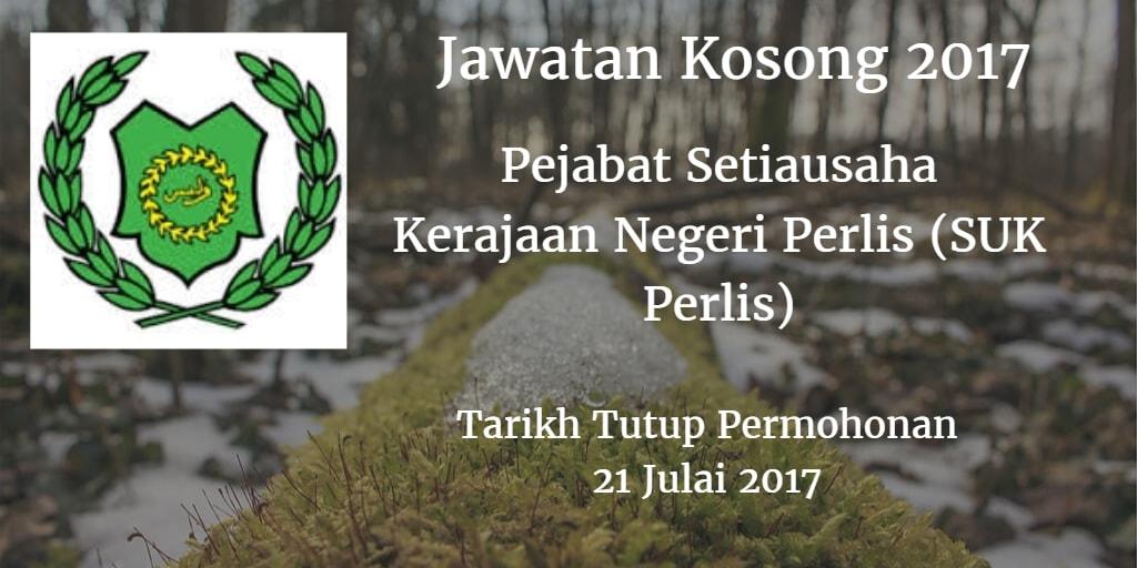 Jawatan Kosong Pejabat Setiausaha Kerajaan Negeri Perlis (SUK Perlis) 21 Julai 2017