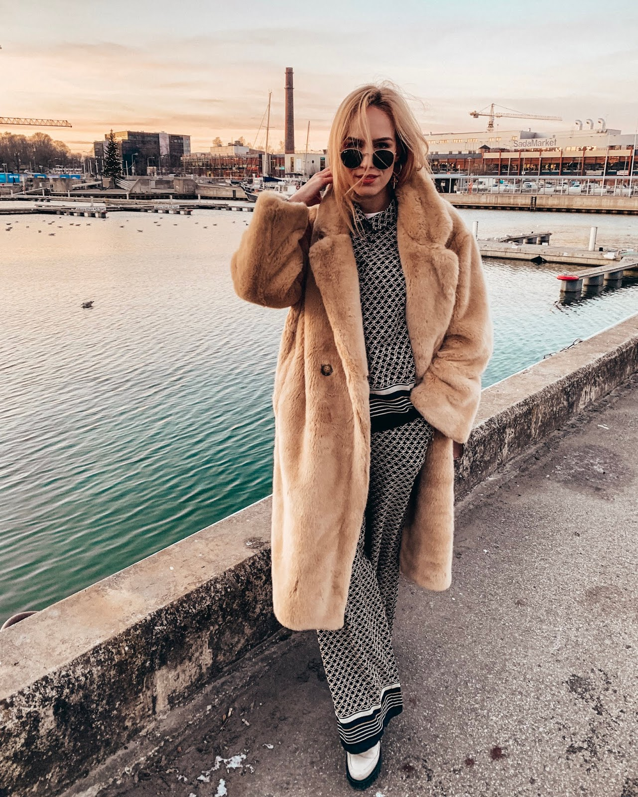 teddy coat outfit winter
