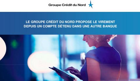 Crédit du Nord propose le virement depuis un compte détenu dans une autre banque
