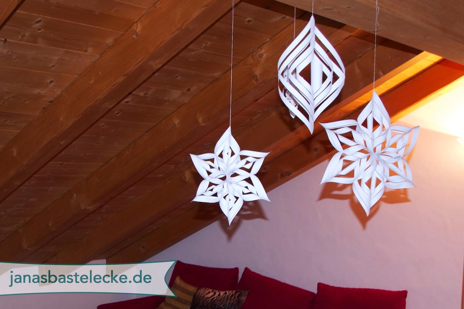 janasbastelecke 12 tage weihnachten 2014 3d schneeflocke aus papier. Black Bedroom Furniture Sets. Home Design Ideas