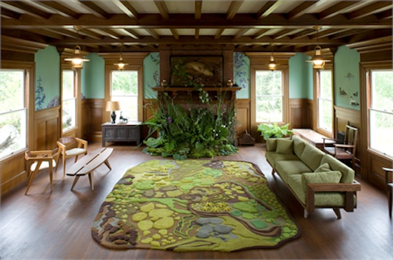 Themes For Living Rooms How To Furnish A Small Narrow Room Natural Theme Idea With Forest Rug By Angela Adams Create Cool And Refreshing Choosing The Right Such As Bring Back Touch Into Your Home This