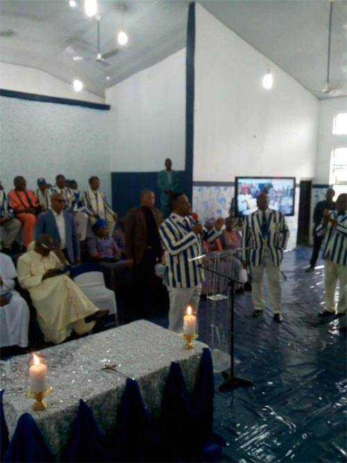 Photos: Obiano, Obi, others at Father Tagbo burial ceremony at CKC Onitsha today