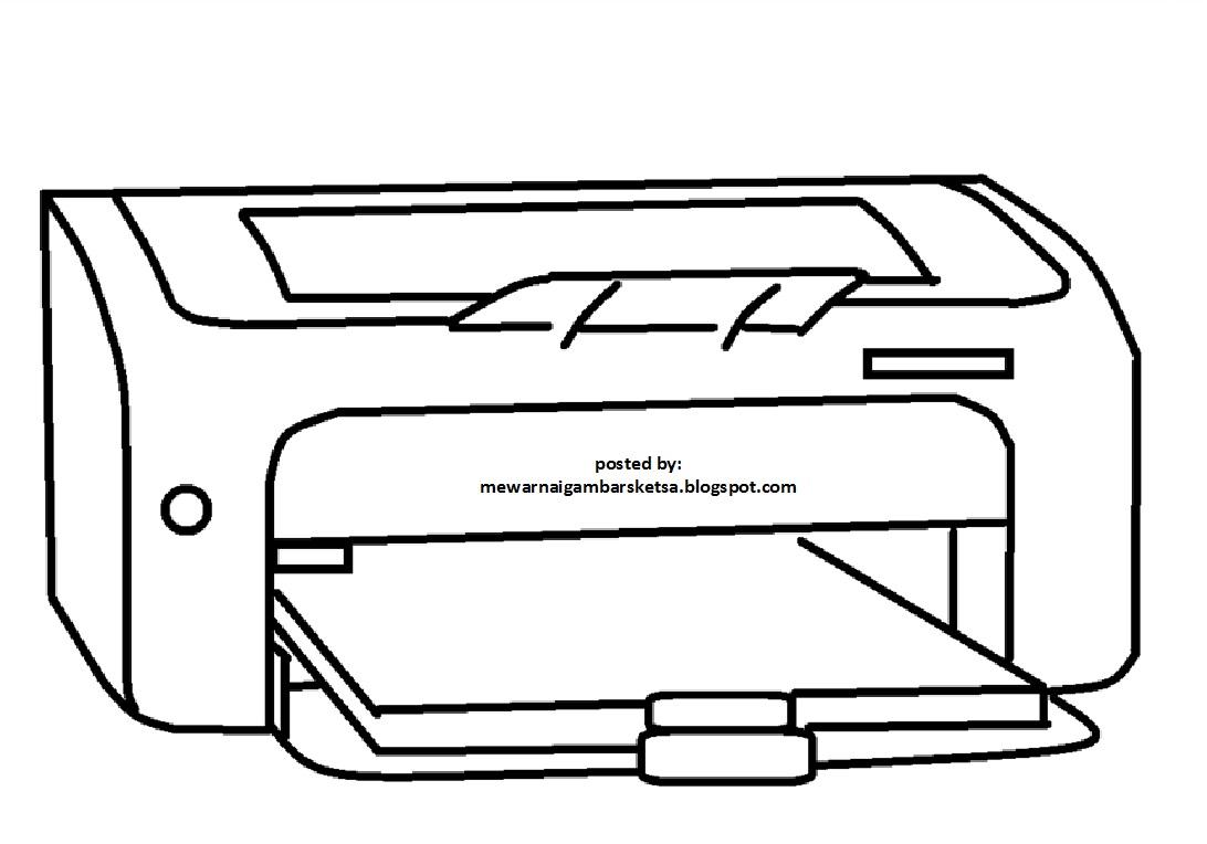 Mewarnai Gambar Mewarnai Gambar Sketsa Printer 1
