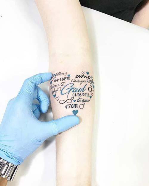 forearm name tattoo tumblr iç kol isim dövmesi