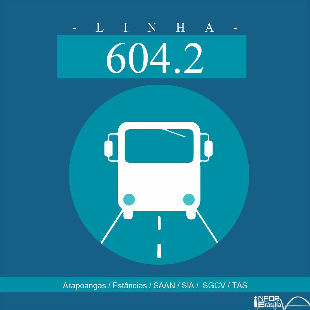 Horário de ônibus e itinerário 604.2 - Arapoangas / Estâncias / SAAN / SIA /  SGCV / TAS