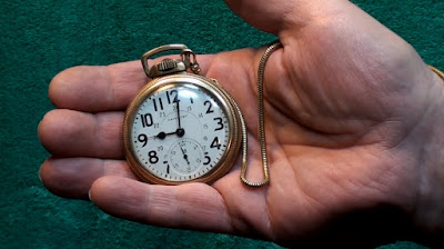 Hamilton Brakeman's gold pocket watch