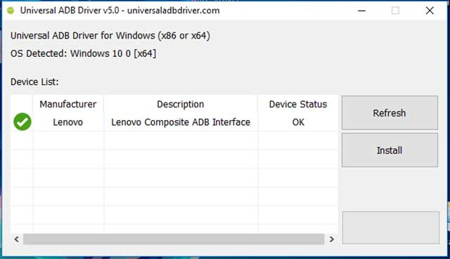 instalar universal adb driver windows 10