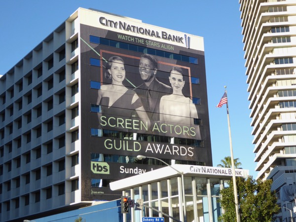 Giant 2017 Screen Actors Guild Awards billboard