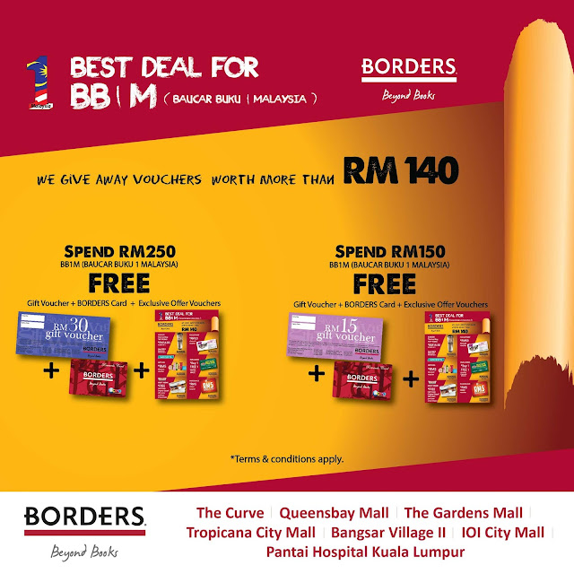 Borders BB1M Book Voucher Promotion