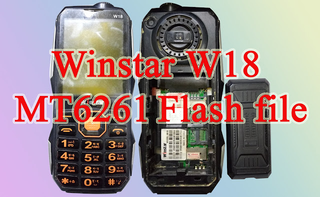 Winstar W18 MT6261 flash file
