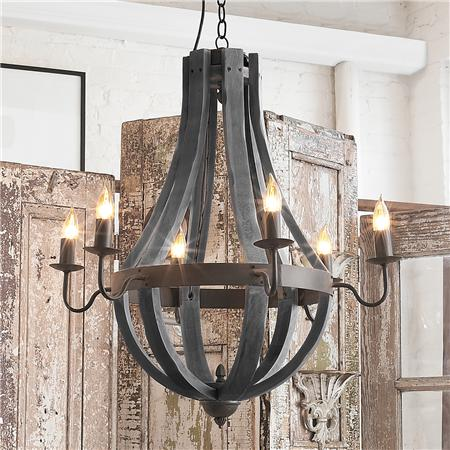 Home decorating with rustic outdoor wrought iron for Rustic outdoor chandelier