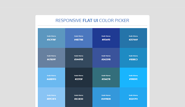 Membuat Responsive Flat UI Color Picker