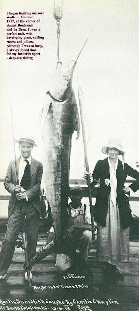 Чарли Чаплин и его жена Милдред Харрис на Каталине