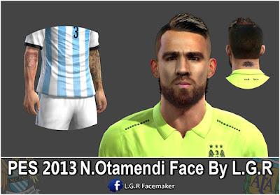 PES 2013 N.Otamendi Face By L.G.R