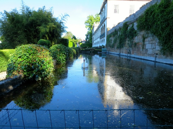 Casa da Ínsua - pond with ducks and swans